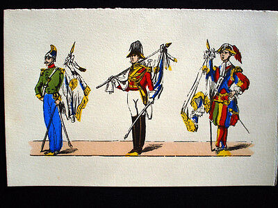 Vintage French Military Imagerie Pellerin d'Epinal Pochoir Blank Cards InvU