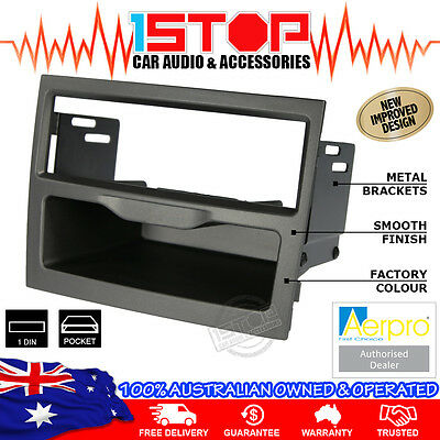 HOLDEN COMMODORE VY-VZ 2002-2007 GREY SINGLE-DIN FACIA KIT fascia panel pocket