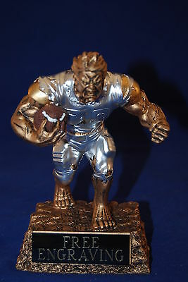 MONSTER FANTASY FOOTBALL TROPHY - FREE ENGRAVING - SHIPS IN 1 BUSINESS DAY!