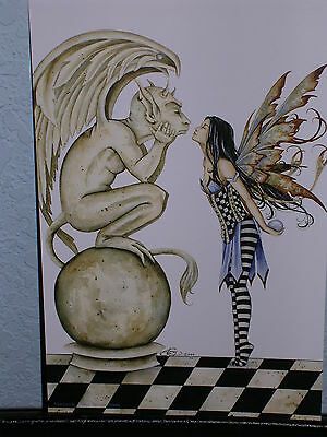 Amy Brown - Gargoyle I - Mini Print - RARE