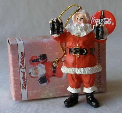 Limited Edition Coca-Cola Christmas 2000 Advertising Santa Ornament With Box