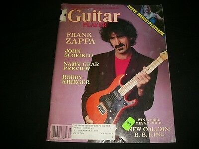 1983 Feb Guitar Player Magazine - Frank Zappa - Nice Music Cover - A595