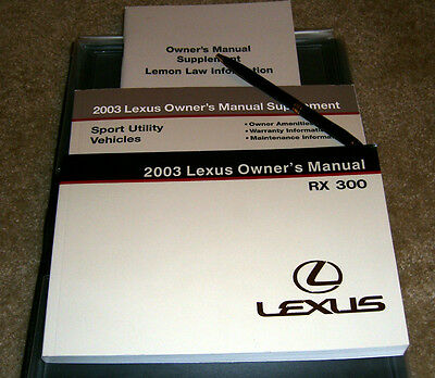 2003 lexus rx 300 owner s manual set with factory case used rh picclick com 2000 lexus rx300 owners manual pdf download 2000 lexus rx300 owners manual