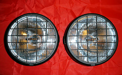 2 X NEW Ring RL020G Round Driving / Spot Lights 155mm With Stone Guards