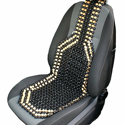 Black & Natural Wooden Bead/beaded Car/taxi/van Front Seat Cover/cushion