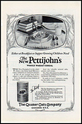 1923 vintage ad for Pettijohn's Whole Wheat Cereal, Quaker Oats -537