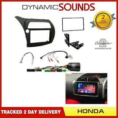 CTKHD01L LHD Double Din Fascia & Stalk Kit For Honda Civic Type R 2006 -2011