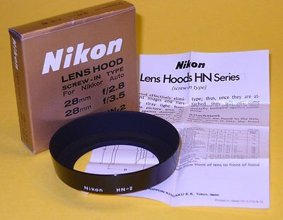 Nikon Metal(!) Hood HN-2 for Nikkor 28mm and 35-70mm zoom - Brand New with Box!