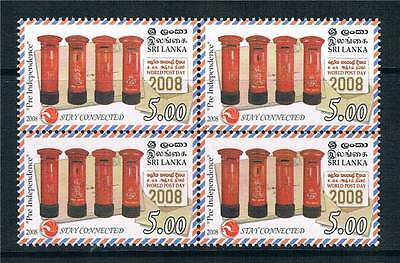 Sri Lanka 2008 World Post Day Blk 4 SG 1966 MNH