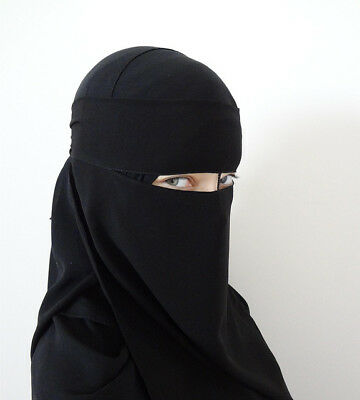 1x Women's Face Veil Niqab Nikab Islamic Clothing BLACK