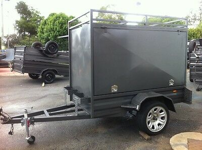 New Enclosed Box Trailer Drive Away Today! Great For Camping!