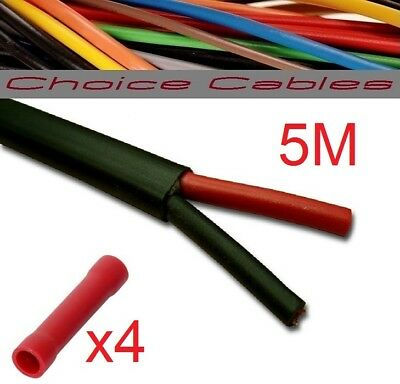 5.75 Amp 5M Auto Cable Twin Core Car Wire Strand Flat Twin Thin Wall Flex