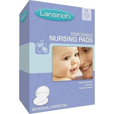 Lansinoh Disposable Nursing Pads 60 Individually Wrapped Pads Nursing Pads