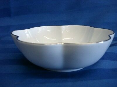 "J. Seignolles Limoges France White With Silver Trim Bowl 5-1/4"" X 1-3/4"""
