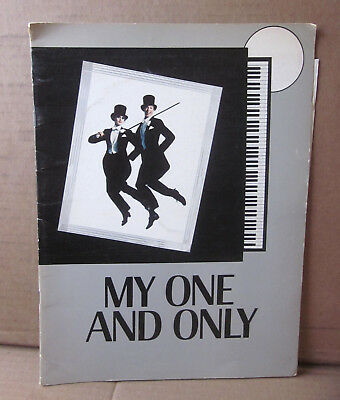MY ONE & ONLY Gershwin musical theater souvenir program 1983
