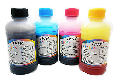 531 4 x Recarga Tinta 200 ml Compatible Universal Impresora Inyección Color Pc