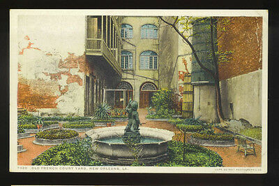 NEW ORLEANS, LA ~ FRENCH COURTYARD & FOUNTAIN ~ DETROIT PHOSTINT 1910's