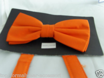 ORANGE Pre-tied Bow tie  *With us*  The More Bowties U Buy   The More £$ U Save