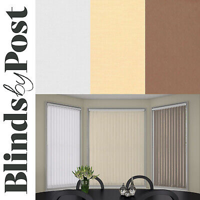 Made to Measure 89mm Complete Vertical Blinds - Sole Plain Fabric - Child Safe