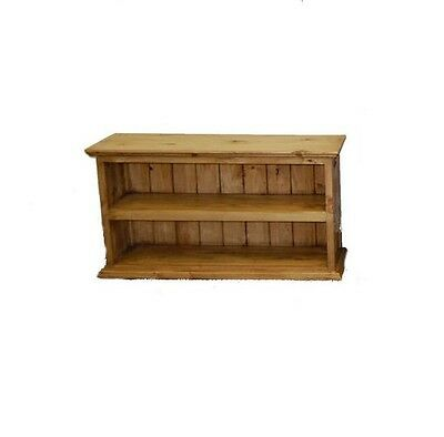 Rustic Small Bookcase Western Real Solid Wood Cabin Lodge
