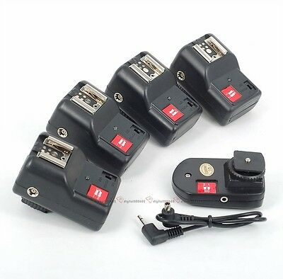 NEW PT-04 GY 4 Channels Wireless/Radio Flash Trigger SET with 4 Receivers
