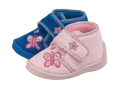 Joblot Wholesale Girls Velcro Butterfly Slipper Boot Sizes 5-12 x18 pairs X2030