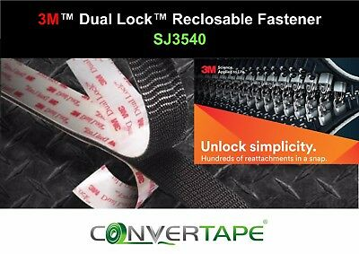 3M™ SJ3540 Dual Lock Black Heavy Duty Adhesive Recloseable VHB Fastener