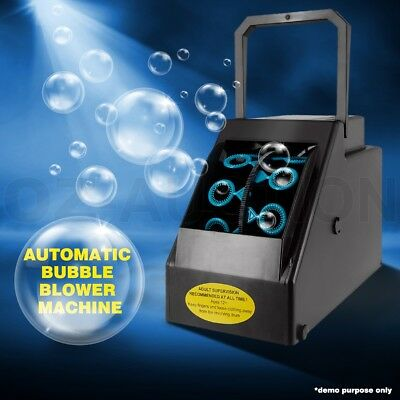 Automatic Bubble Blower Blowing Maker Machine DJ Disco Party Club Electric New