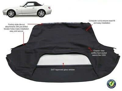 Honda S2000 1999-2001 Convertible Soft Top With Glass Window NEW!!