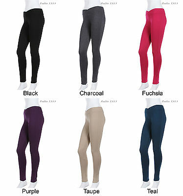 Girls Autumn Leggings Cotton Spandex Knitted School Thick Leggings Age 2-10 yrs