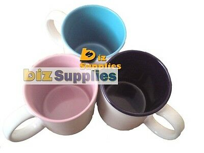 12x Inner Color Dye Sublimation Coffee Mugs with Gift Box - Dishwasher Proof