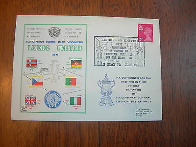 1971 Leeds United Fairs Cup Winners First Day Cover