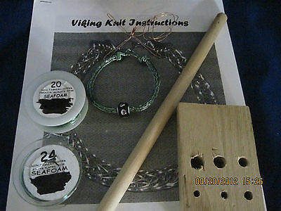 GREEN WIRE  VIKING KNIT BRACELET KIT & INSTRUCTIONS, everything included #2