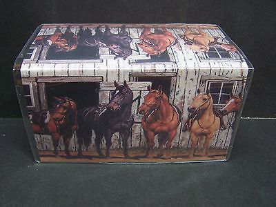 Western Horses Ready To Ride Horse Lovers  Checkbook Cover