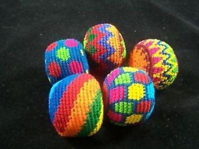 Fair Trade Hand Woven Hackys From Guatemala Set Of Five(5) Juggling Magic