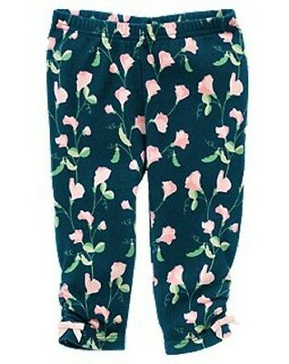 new NWT GYMBOREE girls PRETTY PEA Floral Ruched Blue Legging sz 3-6 mos,6-12 mos