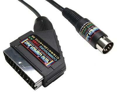Commodore 64,C64,128,Plus 4,VIC 20 HIGH QUALITY SCART Video Cable TV A/V Lead
