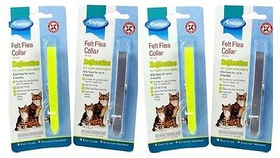 Armitage 4 Cat Kitten Reflective Felt Flea Collar Reduced Free Post Kills Fleas
