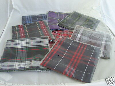 "Quality TARTAN Top Pocket Polyester Hankie-Squares-12"" x 12"" >P&P 2UK >1st Class"