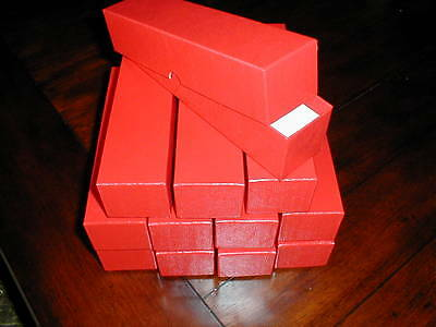 12 (Twelve) New Red Cardboard Storage Boxes (2x2x9) for 2x2 Coin Holders Flips