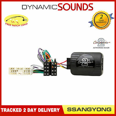 CTSSY001 Steering Wheel Stalk Control Adaptor Lead For SSANGYONG Rexton