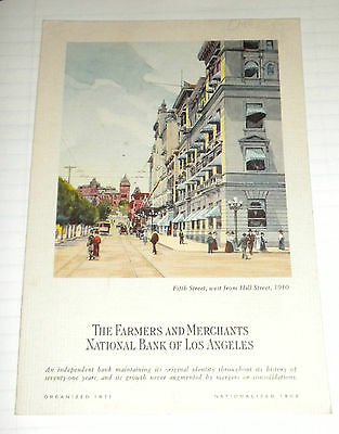 1943 Farmers and Merchants Bank of LA Ad Brochure with Statement of Condition