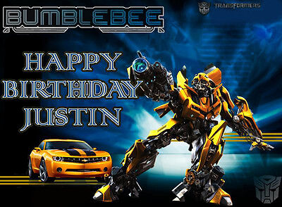 Transformers BUMBLEBEE Edible CAKE Image Icing Topper Decoration FREE SHIPPING