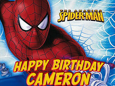 SPIDERMAN Edible CAKE Image Icing Topper Decoration FREE SHIPPING