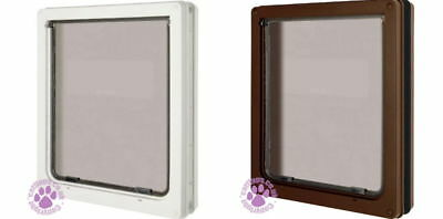 New Dog Mate Pet Flap Door Large Avaiable in White or Brown 216 - 2 Way Locking