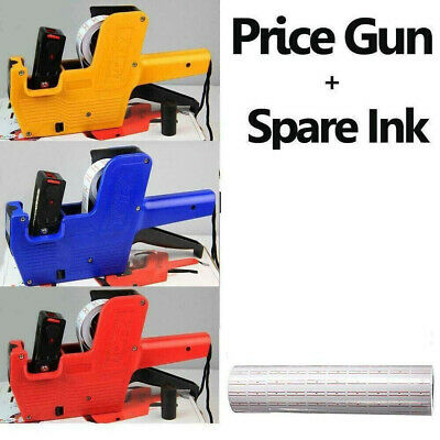 """3 Colors Price Gun/Retail Pricing Label/Tag WITH """"£"""" Sign + Spare Ink+5000 label"""