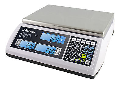 CAS S-2000 JR Series Price Computing Scale LCD Display 60LB - Free Shipping