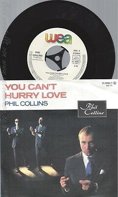 "7"" Phil Collins --You Can't Hurry Love --"