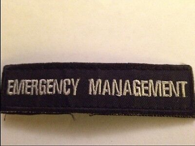 Emergency Management Embroidered Velcro Patch Civil Defense