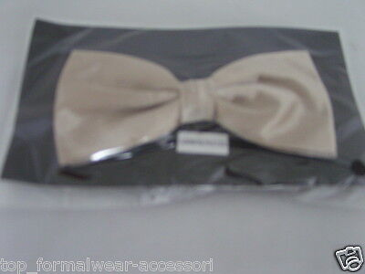 DARK Champagne Pre-tied Polyester Bow tie<With us>More Bows U Buy>The More USave